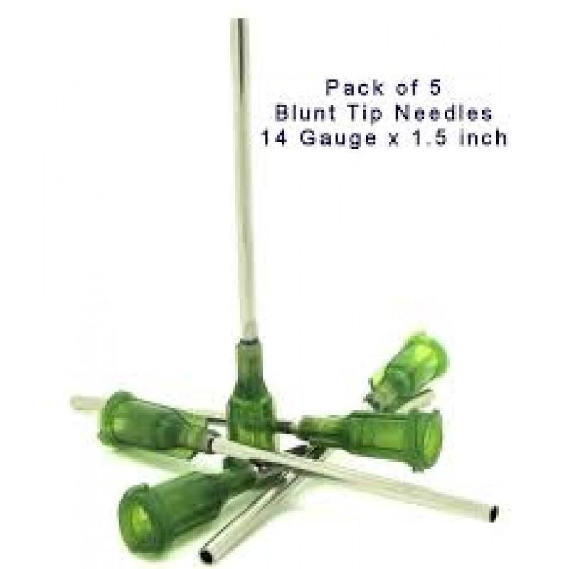 Blunt Needle Tips - 1.5inch - 40mm - 14G - 5 Pack